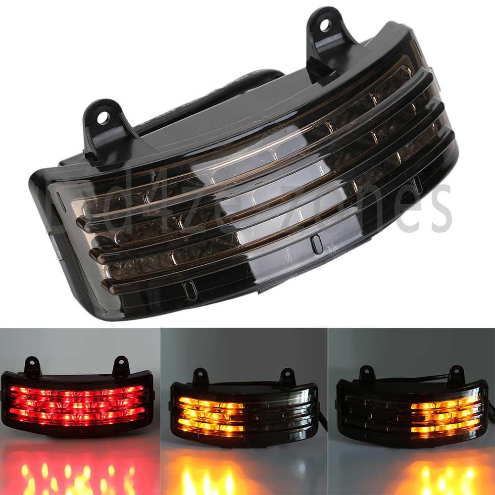 Tri Bar Fender Belakang Terintegrasi LED Tip Light Rem Ekor Berhenti + Lampu Sein untuk Harley Touring flhx Fltrx Street Glide