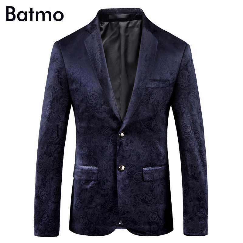 Batmo 2018 new arrival high quality printed casual blazers men men s casual suits printed men