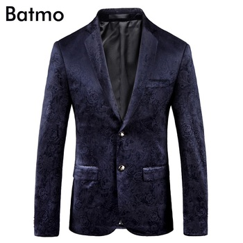 Batmo 2019 new arrival high quality printed casual blazers men,men's casual suits,printed men's jackets plus-size 9005