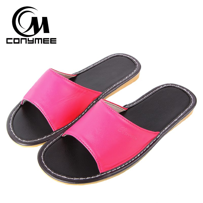 Female Home Indoor Slippers Flip Flops Summer 2019 Leather Sandals Beach Slippers Non-slip Men Women Casual Shoes Bath Slippers 1