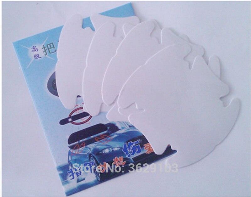 4pcs car door handle sticker protective film accessories car-styling for Cadillac srx cts ats escalade sts dts bls