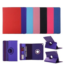 ocube 30pcs/lot PU Leather 360 TPU Soft Rotating Case Cover Smart Folio Stand With Card Slot For Apple Ipad Pro 10.5 Tablet