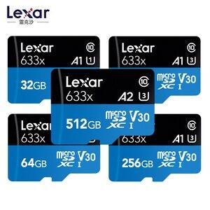 Высокоскоростная карта памяти Lexar 633x Micro SD, 32 ГБ, 64 ГБ, 128 ГБ, макс. 95 м/с C10, 256 ГБ, 512 ГБ, захват, приключения в HD, входит в комплект адаптера