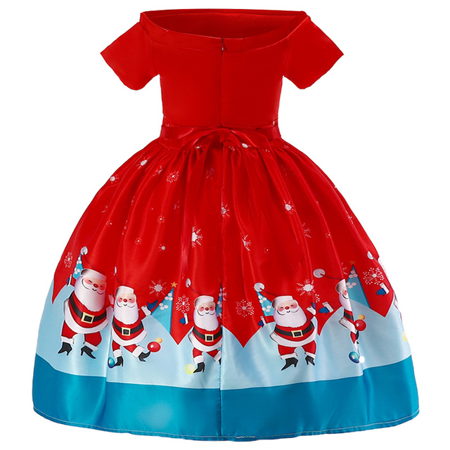 New Christmas Gift For Baby Girl Winter Snowman Dress 3-10 Years Old 5