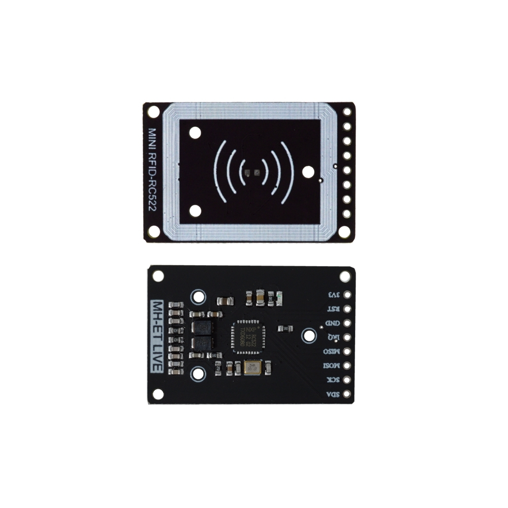 Image 2 - RFID module RC522 mini Kits S50 13.56 Mhz 6cm With Tags SPI Write & Read for arduino uno 2560-in Integrated Circuits from Electronic Components & Supplies