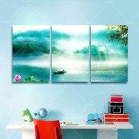 3ピース現代自然風景湖ホーム装飾壁アート絵画用リビングrommアートワークに印刷キャンバス非フレームPR216