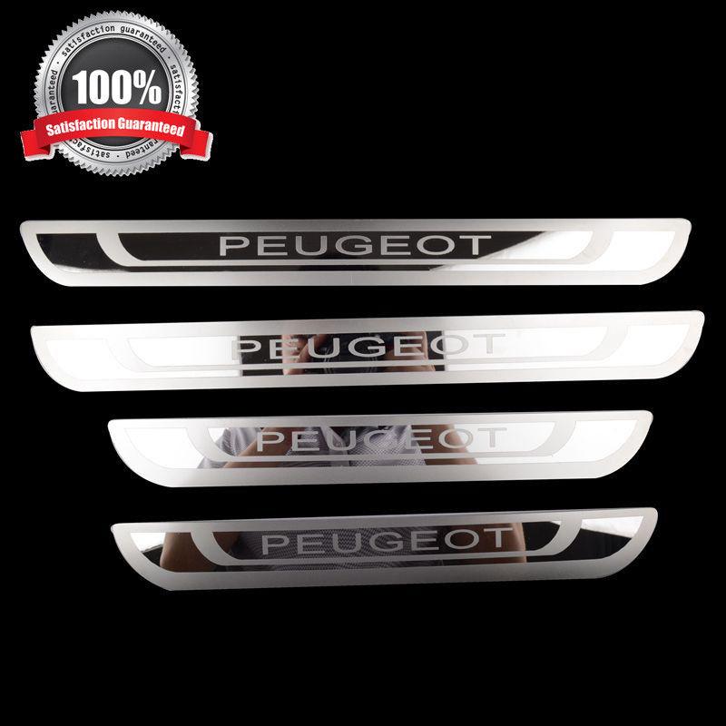 Stainless Steel Door Sill Scuff Plate Fit for Peugeot 308 408 508 3008 2008 307 колодки ferodo 307 308 408