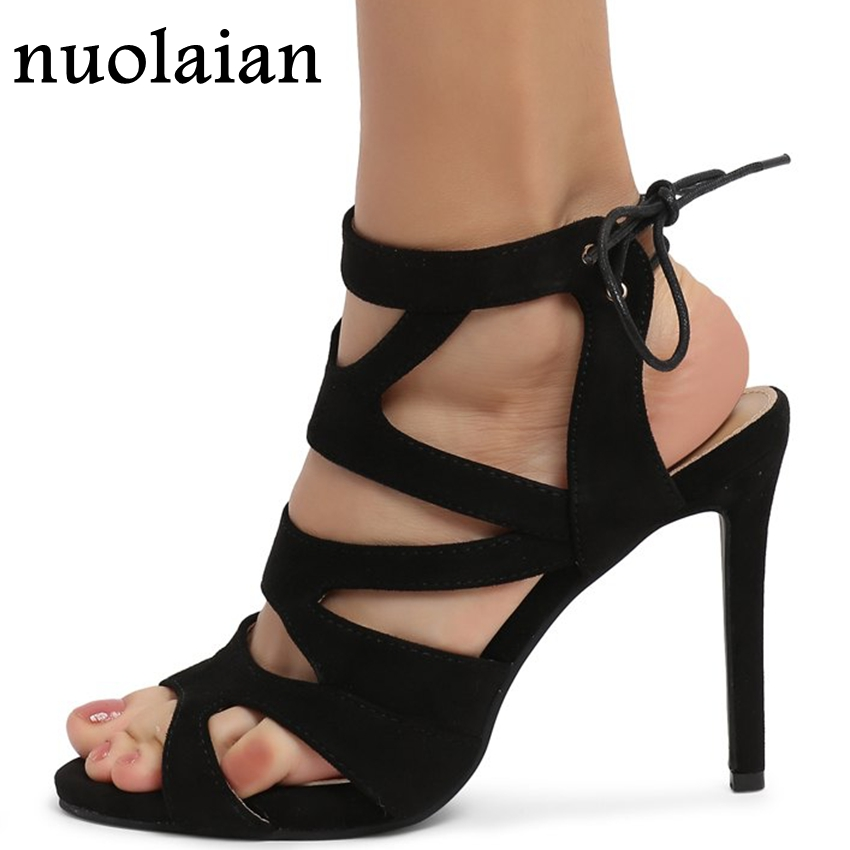 Women Ankle Strap Sandals Dress Summer High Heel Sandal Shoes Causal Woman High Heels Ladies Platform Pumps Wedding Shoe 10.5CM цена