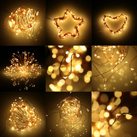 5 PCS 2M 3M 5M Waterproof USB Copper Wire LED Strings 3 Types Party Fence Christmas
