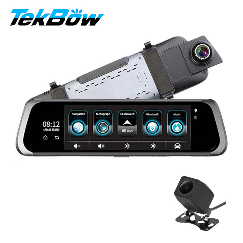 Tekbow Special Mirror Dash Cam Car DVR Camera Android 5.1 with GPS DVR Automobile Video Recorder Rearview Mirror Camera Dash Cam iroad dash cam v9