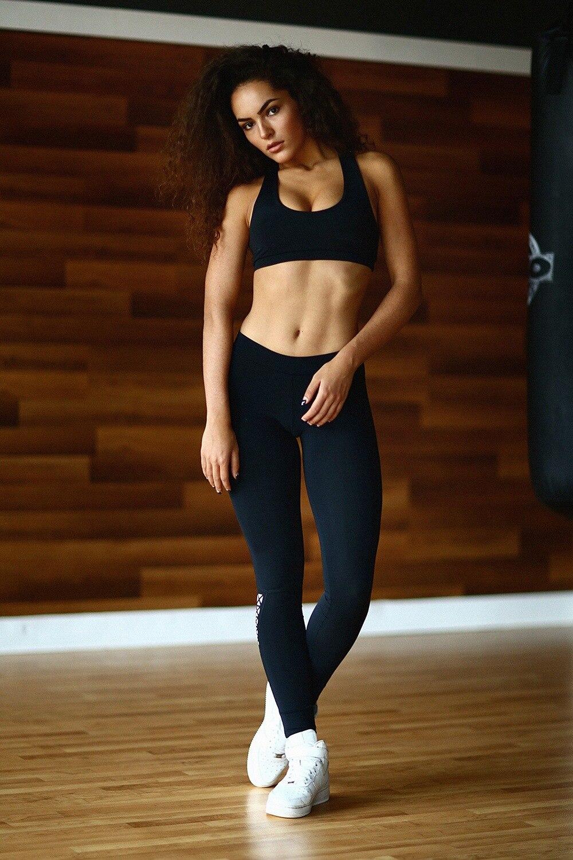 0ef5438bd3ff Gym Sportswear Women's Tracksuit Sport Yoga Set 2 Pieces Stretch Skinny  Fitness Backless Slim Black Jogging Femme Yoga Clothing on Aliexpress.com |  Alibaba ...