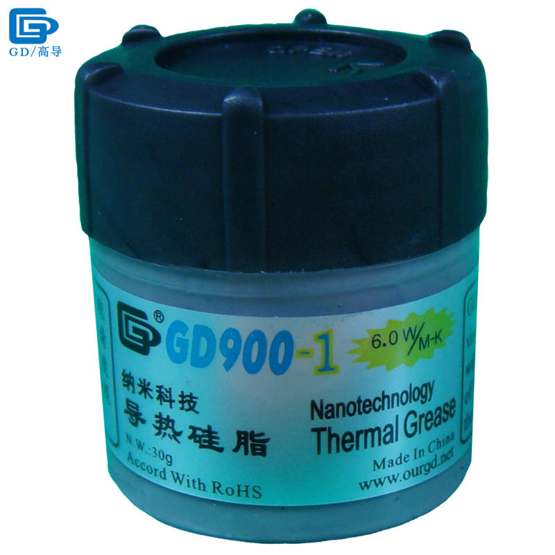 GD900-1 Thermal Conductive Grease Paste Silicone Plaster Heat Sink Compound Net Weight 30 Grams Containing Silver For CPU CN30 gd n w 150g nanotechnology gray gd900 1 thermal conductivity grease paste silicone heat sink compound ps3 cpu cooler fan cn150