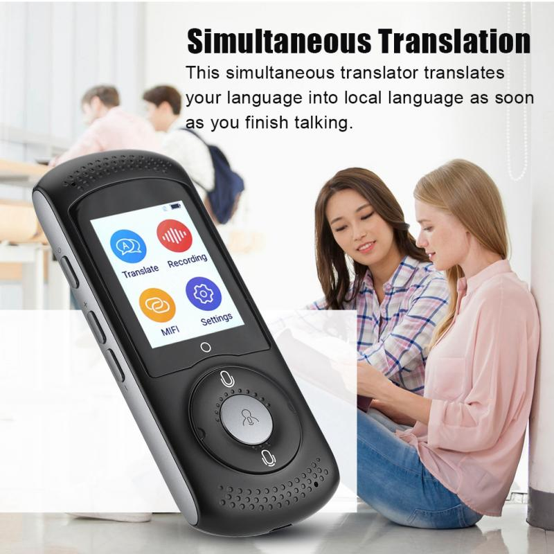 VBESTLIFE Intelligent Real Time WIFI Voice Translator Robot Multilingual Travel SIM Translator Speech Interactive Translator(China)