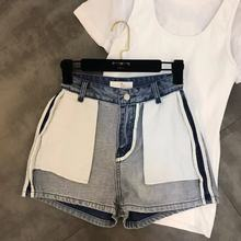 Jeans Woman Direct Selling Cotton Medium Mid 2019 Spring New Pocket Decoration Anti-wear Trend Denim Shorts Women Womens