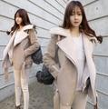2016 зима новый Европейский стиль ягненка шерстяное пальто лацкан короткий параграф Тонкий тонкий толстый хлопчатобумажный пиджак