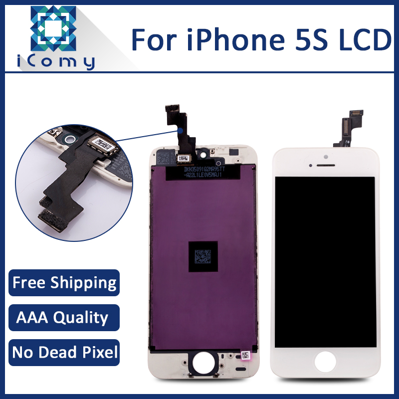 100 Tested Good LCD Display Screen For Apple iPhone 5S White Black Ecran Pantalla Tela DHL