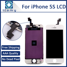 100% Tested Good LCD Display Screen For Apple iPhone 5S, White/Black Ecran Pantalla Tela, DHL Free Shipping