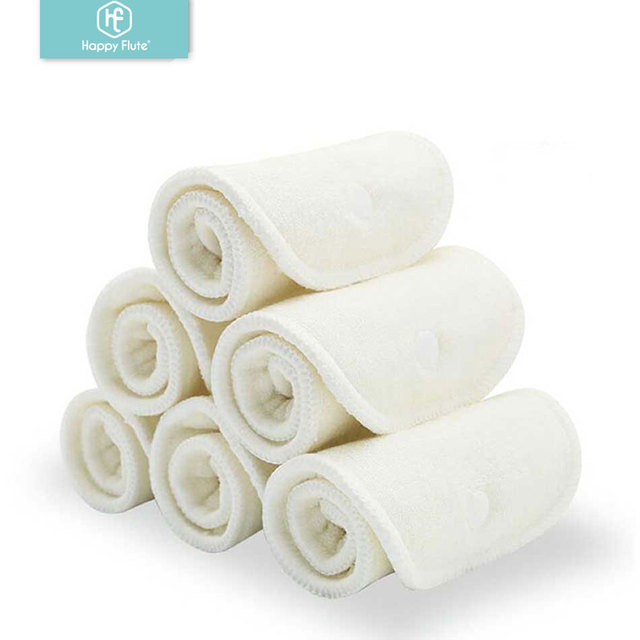 $  HappyFlute 10 pcs 2 layers bamboo&2 layers microfiber Newborn Liner Insert For Baby Cloth Diaper Nappy Natural Bamboo Washable