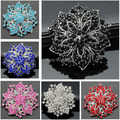 Aaa флэш-класс австрия кристаллы большой цветок свадьба свадебный букет брошь женщины одежда корсаж