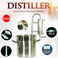 HOT 12L/60L New Alambic Moonshine small-scale Homebrew Wine Distiller Stainless Steel Wine Distillation Equipment Brewing Tool 25l large capacity stainless steel wine brewing machine distillation wine equipment alcohol vodka liquor distiller pot boilers