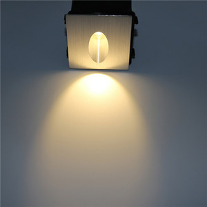 10PCS 3W led Stair Light with Embedded Box Aluminum Step Lights Outdoor LED Wall Lamp Footlight Wall Corner Light B20N