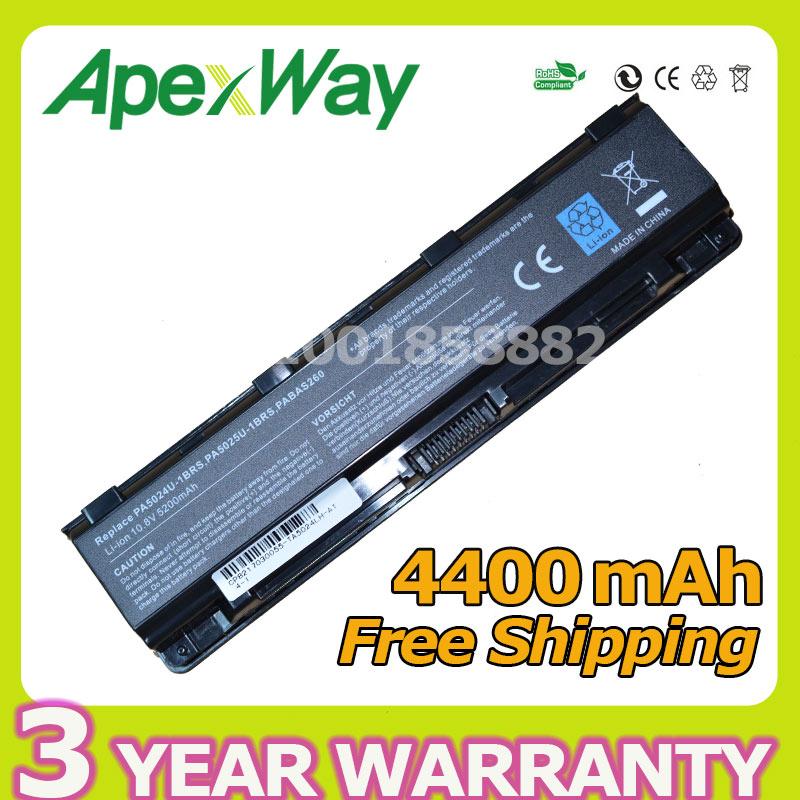 Apexway Batterie für Toshiba Satellite C850 C850D C855D C855 PA5023U-1BRS PA5024U-1BRS 5024 5023 PA5024 PA5023 PA5024U C870 C875