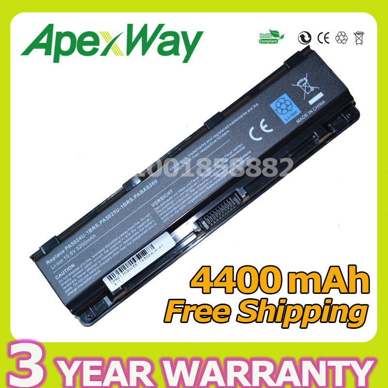 цена Apexway Battery for Toshiba Satellite C850 C850D C855D C855 PA5023U-1BRS PA5024U-1BRS 5024 5023 PA5024 PA5023 PA5024U C870 C875