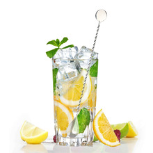 30CM 2pcs Stainless Steel Threaded Bar Spoon Swizzle Stick Cocktail Wine Spoons Barware Bartender Tools