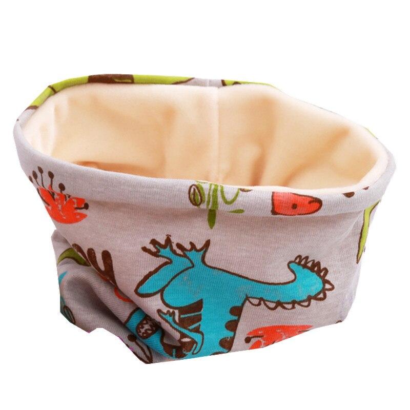 Осенне-зимний детский хлопковый плюшевый шарф, детский шарф для девочек, шарфы для мальчиков и девочек, детский воротник, детский волшебный шейный платок с круглым вырезом - Цвет: gray dinasour