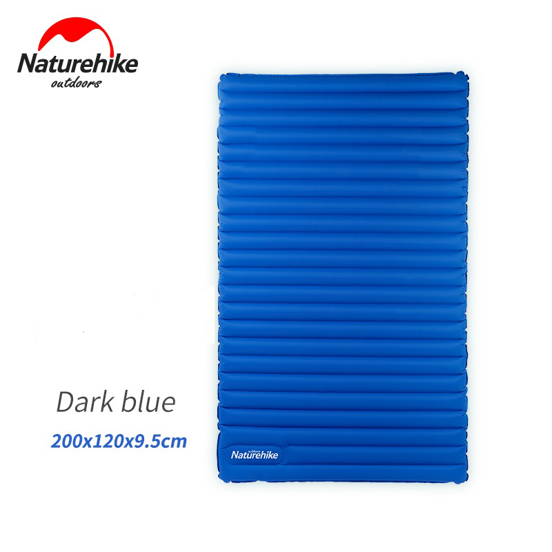Naturehike Inflatable Mattress For 2~3 Person 200x120/140x9.5cm Big Size Portable Air Pad Nh17t120-u