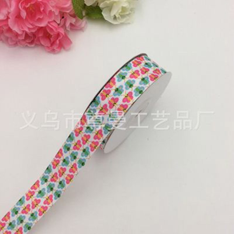 DIY Digital Printing 2 5cm Wide Ribbon Satin Ribbon Sublimation Thread Belt Webbing Cartoon Series Clothing Gift Box Accessories in Webbing from Home Garden