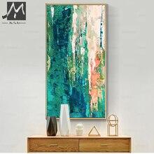 MUYA большая абстрактная живопись, Декор, ручная роспись, холст, масляная живопись, декоративные современные картины, настенные картины для гостиной