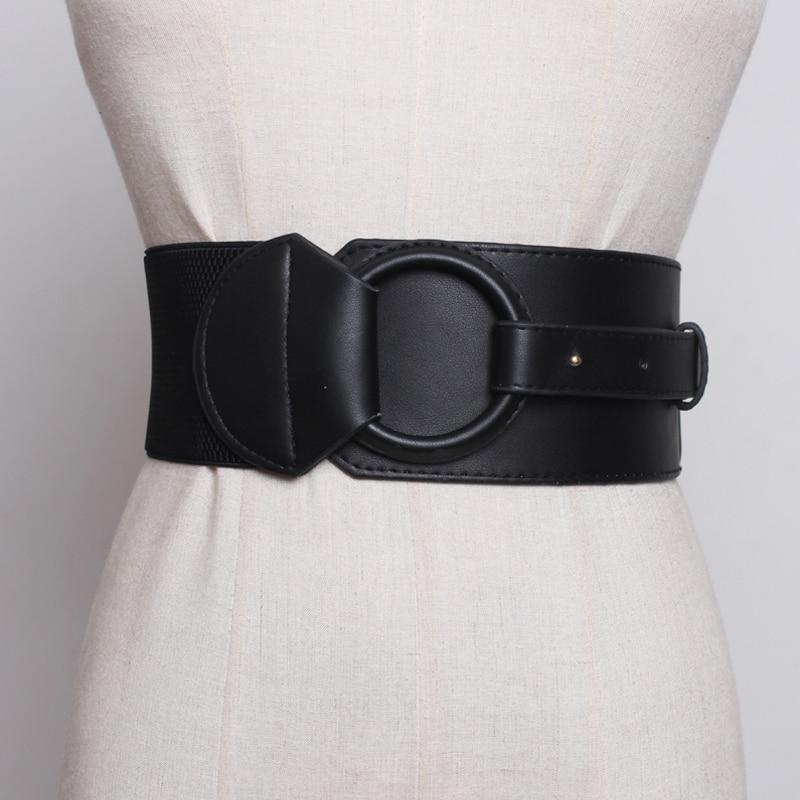 Brand Design Waistband Women's Elastic Wide Belt Stretchy Corset Female Black Cincher Waistbands Wide Belts For Lady Dress