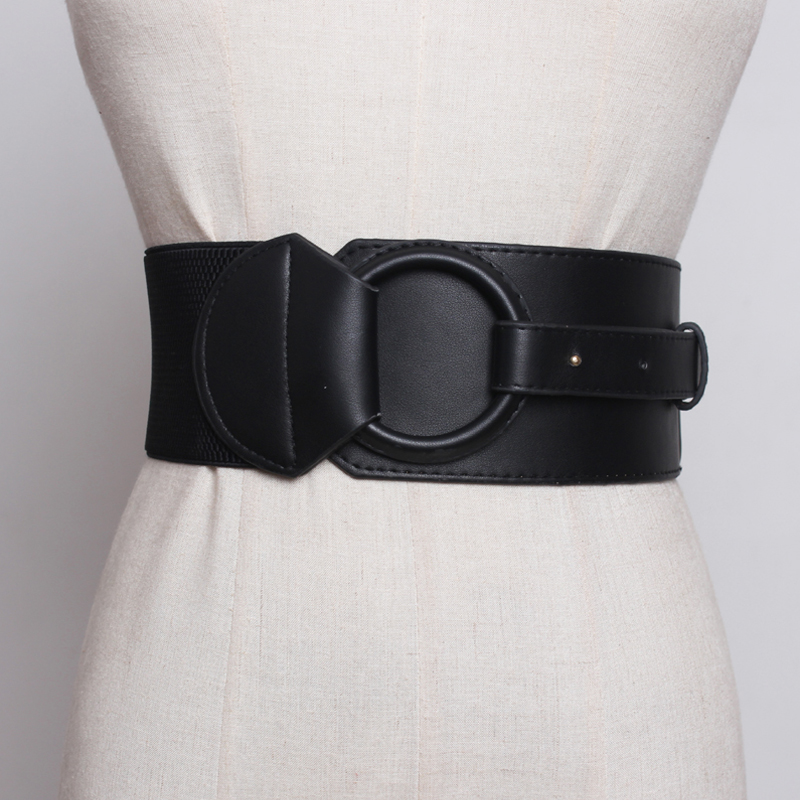 brand design Waistband Women's Elastic Wide   Belt   Stretchy Corset Female Black Cincher Waistbands wide   Belts   for Lady Dress