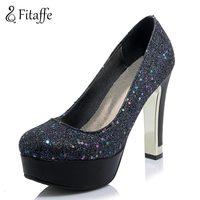 FITAFFE Woman Pumps Sparkle Woman High Heel 11 5cm Shoes Sexy Office Wedding High Heel Pumps