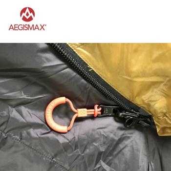 AEGISMAX Envelope 95% White Goose Down Sleeping Bag FP800 M L 4