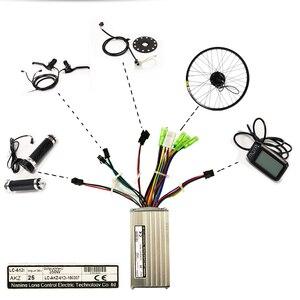 Image 5 - חשמלי אופני ערכת מנוע גלגל 36V 350W 26 אינץ 1.95/2.10 אופניים חשמליים המרת ערכת ebike דואר אופני הרי כביש מהירות אופניים