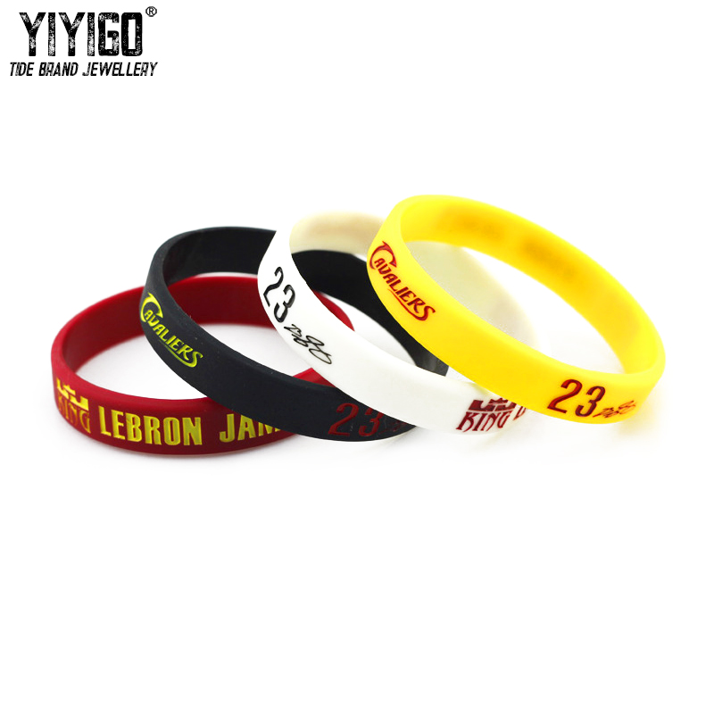 1Piece LeBron James Collector's Edition No.23 Signature Silicone Bracelets Lovers' Men Student Basketball Sport Fans Wristband