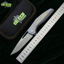 Green Thorn Флиппер F111 3D M390 лезвие Титан ручка Тактика Складной нож Открытый Отдых на природе Охота Карманный фруктовых ножей EDC инструмент