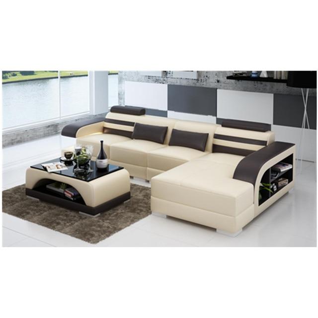 Cushion Sofa Set Blue Material Latest Design High Class Living Room Furniture