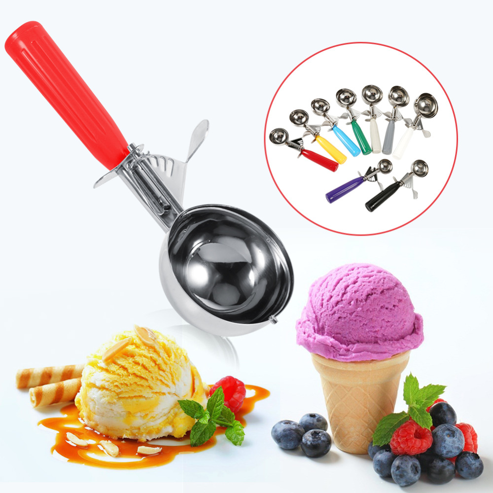 Plastic Ice Cream Scoops Mash Potato Fruit Half Ball Kitchen Food Spoon Tool