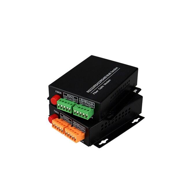Rs485/422/rs232 multi porta da fibra do modem fc da fibra ótica da função 20km conversor rs485/422 da fibra ao conversor da fibra dos ethernet
