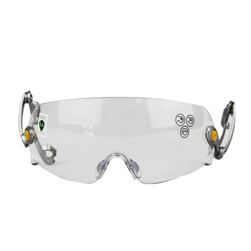 Helmets with protective glasses, anti-fog scratch, site safety goggles industrial eye safety goggles anti impact and anti chemical splash goggle glasses dustproof polycarbonate protective glasses