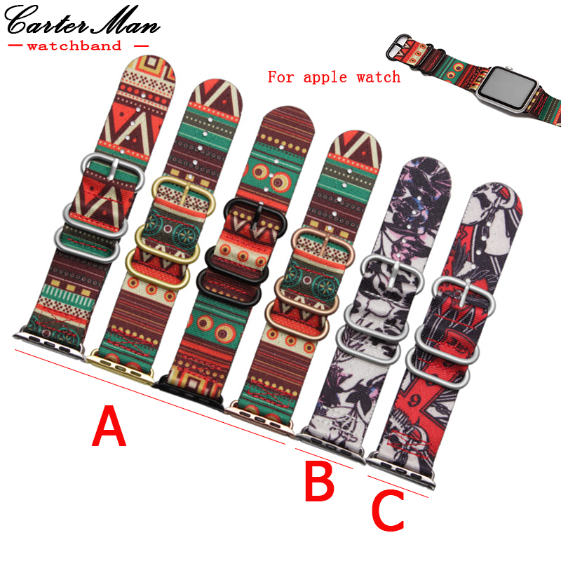 Zulu Nylon Apple Watchband 38mm 42mm Quality Nylon watch straps For iWatch band with 3 stainless steel rings Contains connector special offer wholesale 20mm nylon zulu watch band straps black orange black rings