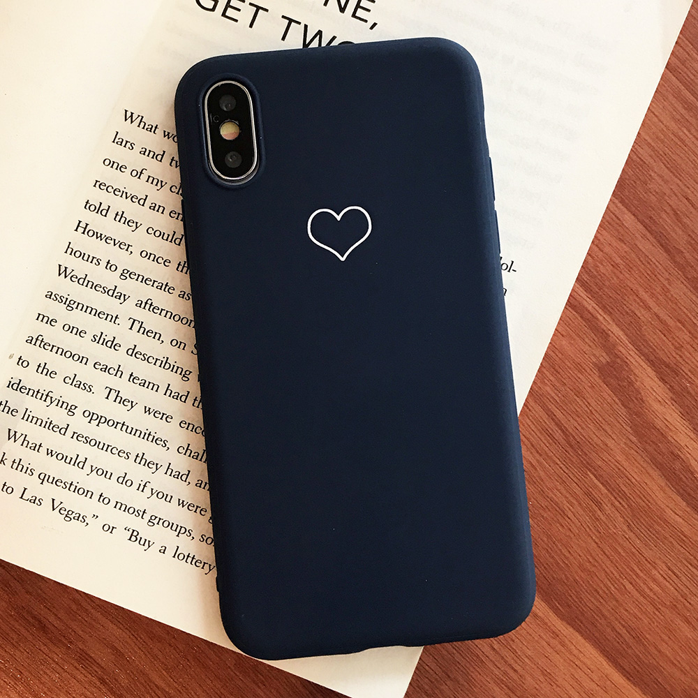 KIPX1091L_1_JONSNOW Phone Case For iPhone XS XR XS Max  6S 7 8 Plus Couples Style Love Heart Pattern Soft Silicone Case Capa Fundas