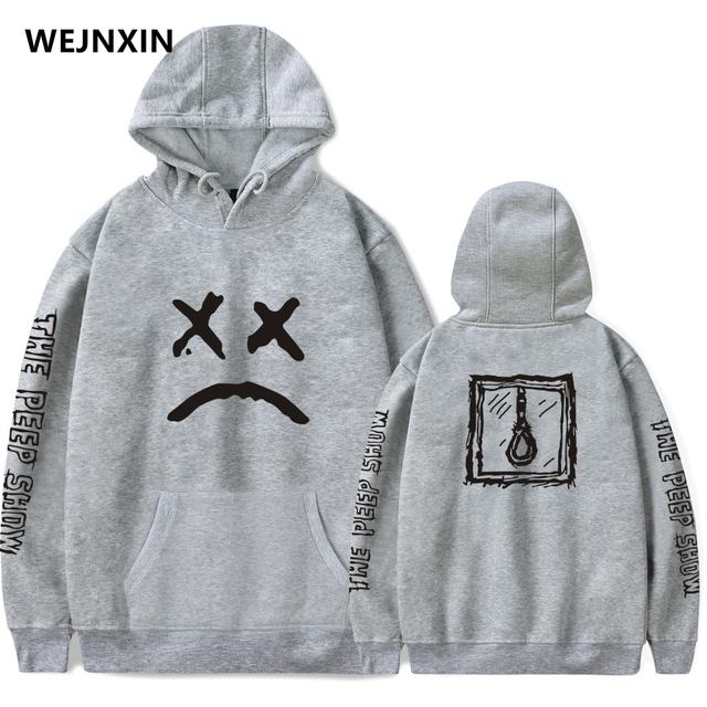 WEJNXIN New Hip Hop Lil Peep Hoodies With Hat For Men Women Unisex Fleece Sweatshirt Plus Size Spring Autumn Winter Streetwear