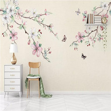3d wallpaper simple hand-painted peach background wall paper mural home decoration custom photo