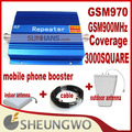 Direct Marketing  GSM 970 GSM booster GSM900Mhz 3000square +indoor,outdoor antenna + Cable Mobile phone booster 1sets