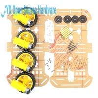 1set Motor Smart Robot Car Chassis Electronic Manufacture DIY Kit Speed Encoder Battery Box 4WD 4