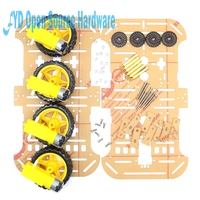 1set Motor Smart Robot Car Chassis Electronic Manufacture DIY Kit Speed Encoder Battery Box 4WD 4